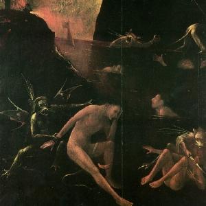 Ад. Фигура скорбящего мужчины