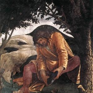 Моисей снимает обувь