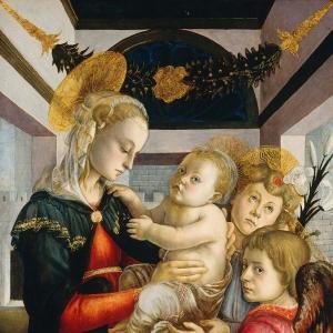 Мадонна с младенцем + два ангела (ок.1460-1465)