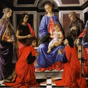 Мадонна с младенцем в окружении шести святых (ок.1470)