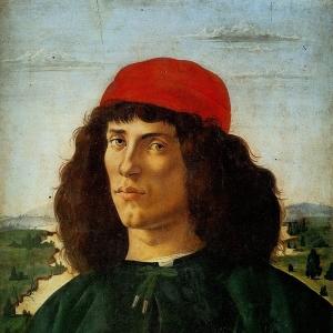 Портрет молодого человека с медальоном Козимо Медичи (1474)