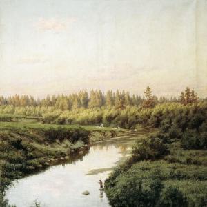 Пейзаж с рекой. 1900
