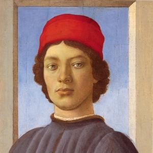Портрет юноши в красной шапке  (ок.1477)