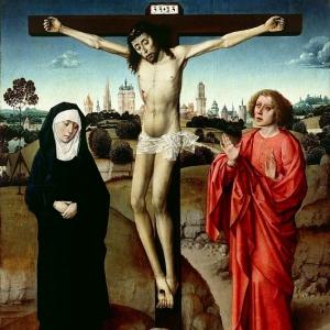 Боутс Дирк - Распятие с Богородицей и св Иоанном