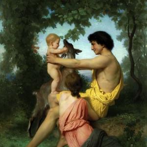 Вильям Бугро - Идиллия. Античное семейство