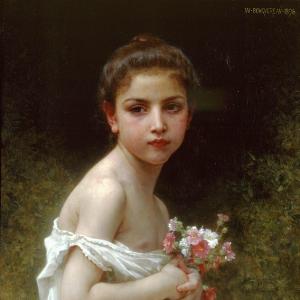 Вильям Бугро - Девочка с букетом