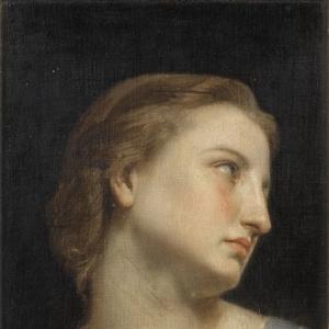 Вильям Бугро - Голова женщины (этюд)