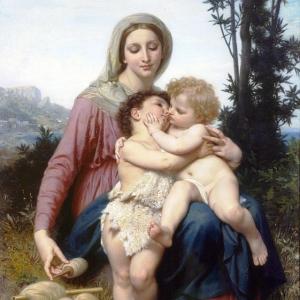 Вильям Бугро - Мадонна с Младенцем и Иоанном Крестителем 2