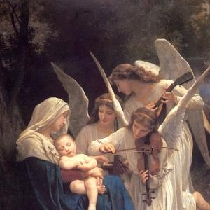 Вильям Бугро - Мадонна с Младенцем и музыцирующими ангелами (Песня ангелов)