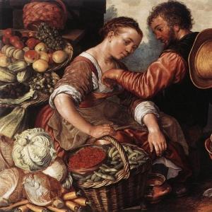 Иоахим Бейкелар - Женщина, торгующая овощами