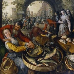 Иоахим Бейкелар - Рыбный рынок с Эссе Хомо