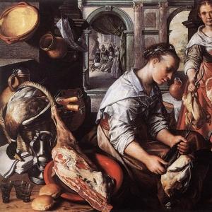 Иоахим Бейкелар - Христос в доме Марты и Марии