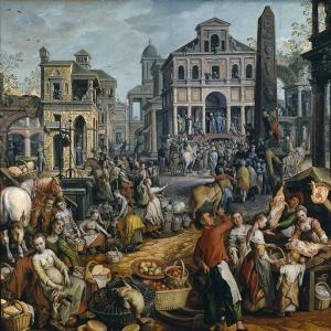 Иоахим Бейкелар - Сцена рынка с Ecce Homo