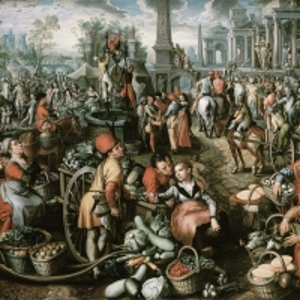 Иоахим Бейкелар - Рыночная сцена, Ecce Homo, Бичевание и перенос креста