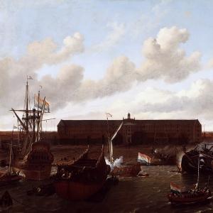 Людольф Бакхёйзен - Верфь Голландской восточно-индийской компании в Амстердаме