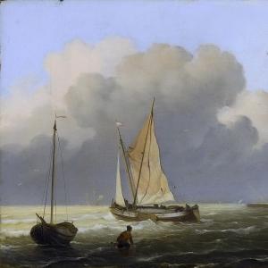 Людольф Бакхёйзен - Тьялк у берега, 1697