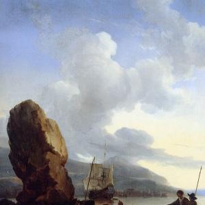 Людольф Бакхёйзен - Голландский корабль в чужестранном заливе