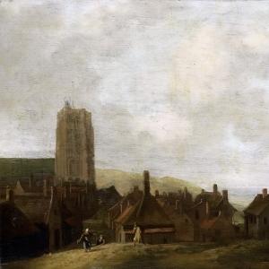 Людольф Бакхёйзен - Вид на замок «Эгмонд» у моря, 1660-1708