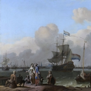 Людольф Бакхёйзен - Яхта и фрегат «Плуг» у Амстердама, 1680-1708