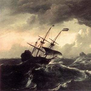 Людольф Бакхёйзен - Корабли, в шторм стремящиеся к берегу