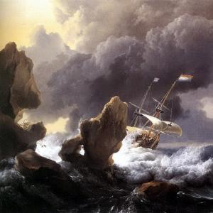 Людольф Бакхёйзен - Суда, терпящие бедствие у скалистых берегов