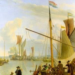 Людольф Бакхёйзен - Вид с пирса Муссел в Амстердаме