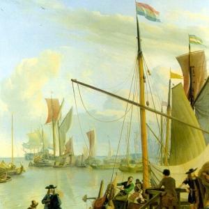 Людольф Бакхёйзен - Вид с пирса Муссель в Амстердаме