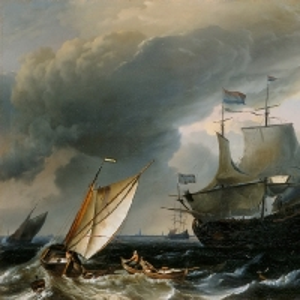 Людольф Бакхёйзен - Голландские корабли в шторм близ Амстердама