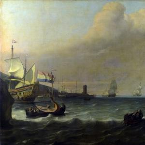 Людольф Бакхёйзен - Голландский военный корабль, входящий в средиземноморский порт