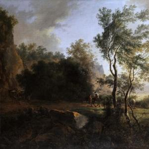 Ян Бот - Итальянский пейзаж с путниками