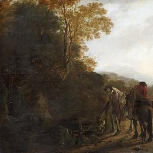 Ян Бот - Горный пейзаж с фигурами