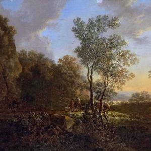 Ян Бот - Итальянский пейзаж с путниками 2