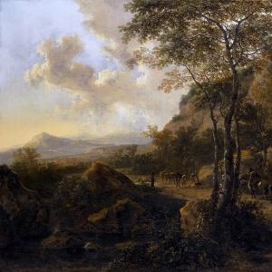 Ян Бот - Итальянский пейзаж с путниками 3