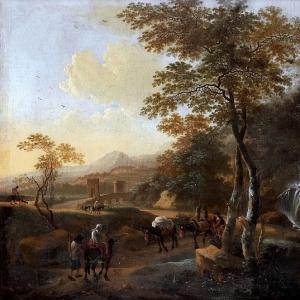 Ян Бот - Итальянский пейзаж с погонщиком ослов