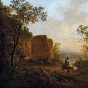 Ян Бот - Итальянский пейзаж с руинами башни