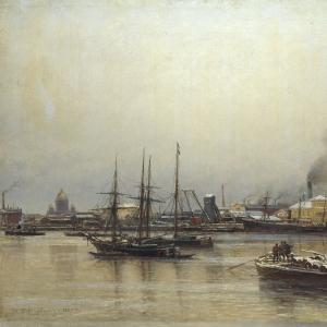 Набережная Невы. 1876