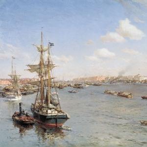 Петербург. Вид на Неву. 1912