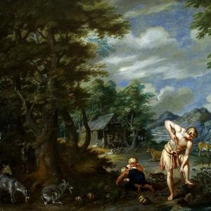 Ян Брейгель Младший - Адам за работой в поле