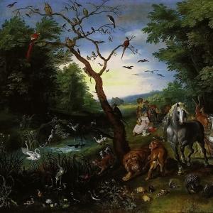 Ян Брейгель Младший - Вход животных в Ноев ковчег