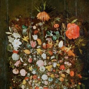 Ян Брейгель Младший - Букет цветов в деревянном вазоне