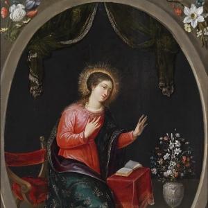 Ян Брейгель Младший - Дева Мария с букетом цветов