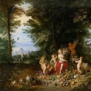Ян Брейгель Младший - Аллегория земли (прейзаж с Церерой)