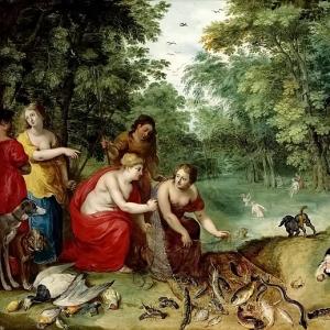 Ян Брейгель Младший - Диана и нимфы после охоты