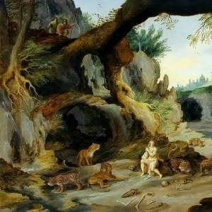 Ян Брейгель Младший - Даниил в яме с хищниками