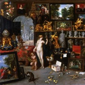 Ян Брейгель Младший - Аллегория зрения (Венера и Амур в художественной галерее)