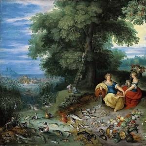 Ян Брейгель Младший - Аллегория воды и земли (совместно с Франсом II Франкеном)