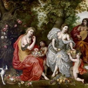 Ян Брейгель Младший - Аллегория пяти чувств (совместно с Хендриком I ван Баленом)