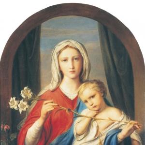 Богоматерь с младенцем в розах. 1843