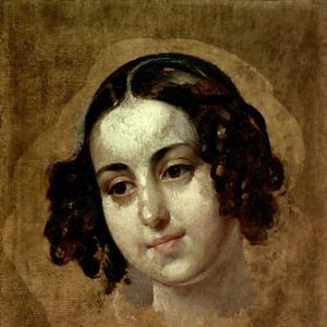 Голова девушки. 1830-е