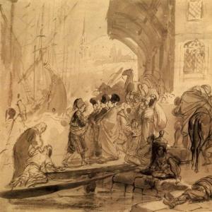 Гавань в Константинополе. 1835